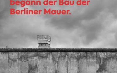Geistige Mauern gegen die Freiheit sind die Gefahr von heute